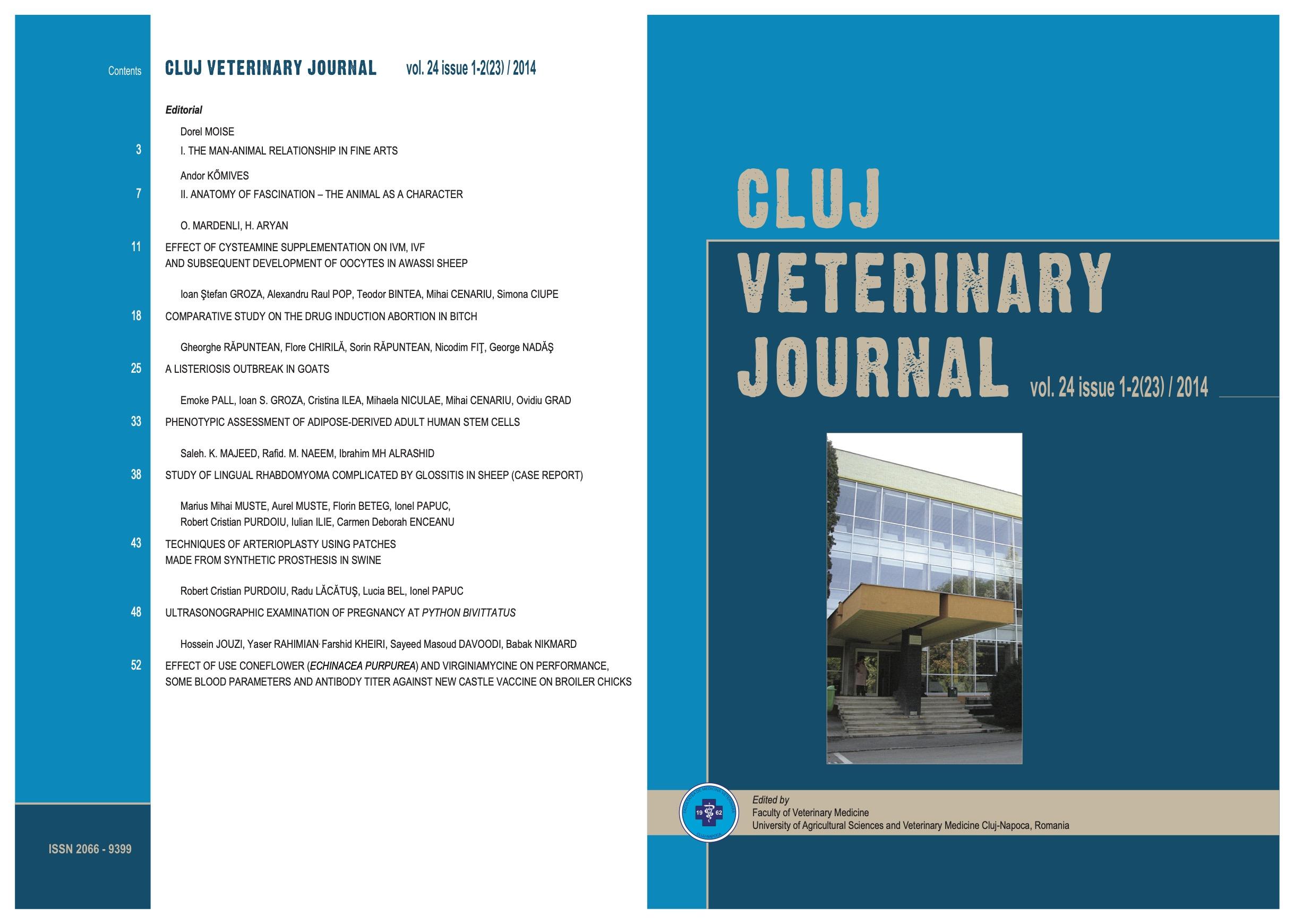 View Vol. 24 No. 1-2(23) (2014): Cluj Veterinary Journal